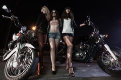 Biker girls Royalty Free Stock Image