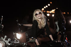 Biker girls Stock Image