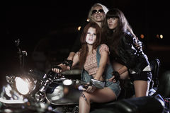 Biker girls Stock Photos