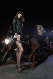 Biker girls Stock Images