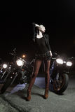 Biker girls Royalty Free Stock Photos