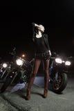 Biker girls Royalty Free Stock Photos