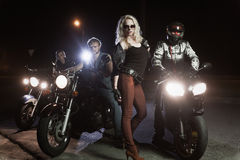 Biker girls Royalty Free Stock Photography
