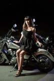 Biker girls Stock Photos