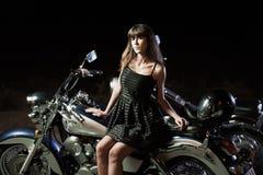 Biker girls Stock Photo