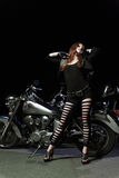Biker girls Royalty Free Stock Images