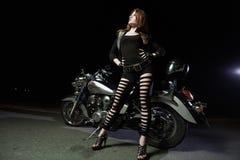 Biker girls Stock Image