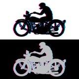 Biker_glitch Στοκ Εικόνες