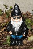 Biker Gnome. A biker garden gnome lawn ornament decoration Royalty Free Stock Image