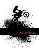 Biker on grunge background Royalty Free Stock Images