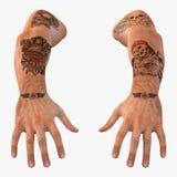 Biker Hands on white. 3D illustration. Biker Hands on white background. 3D illustration Royalty Free Stock Photos