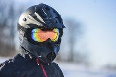 Biker in helmet Stock Photo
