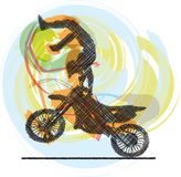 Biker illustration Stock Image