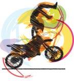 Biker illustration Stock Photo