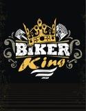 Biker King. Design black T-shirt Biker King royalty free illustration