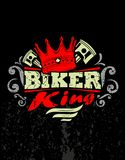Biker king. Design t-shirt Biker king Stock Photo