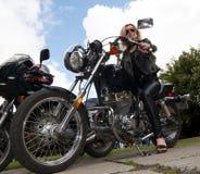 Biker lady Stock Photos