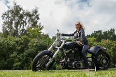 Biker lady Stock Images