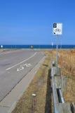 Biker lanes sign. Stock Photos