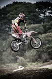 Biker leaping course Stock Image
