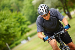 Biker with map Royalty Free Stock Photos