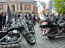 Biker meeting. In Klaipeda in 2015 in 16 May , Lithuania Royalty Free Stock Images