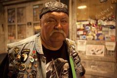 A biker, Mississippi Royalty Free Stock Image