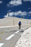 Biker on Mont Ventoux, Tour de France Stock Image