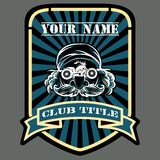 Biker or Motor racing club emblem Stock Image