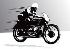 Biker on Motorcycle background Royalty Free Stock Image