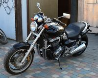 Biker motorcycle. Style chopper stock photo