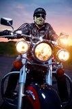 Biker outdoors Stock Photo