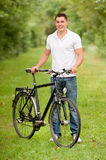Biker in the park Royalty Free Stock Photo