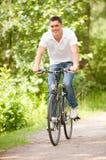 Biker in the park Stock Photo