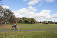 Biker in the park Royalty Free Stock Image