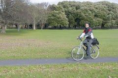 Biker in the park Stock Image