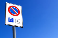 Biker parking only Royalty Free Stock Images