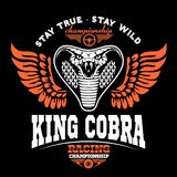 Biker patches King cobra Stock Photo