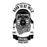 Biker quote with dog for garage, service, t-shirt, spare parts Vector image Royalty Free Stock Photography