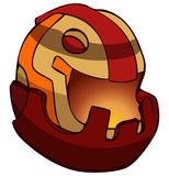 Biker Racing Helmet Vector Illustration. Royalty Free Stock Photography