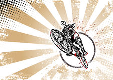 Biker retro poster background Stock Photography