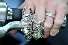 Biker Rings Stock Image