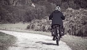 Biker on road Royalty Free Stock Photos