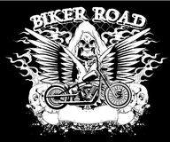 Biker road. Illustration design available in vector format Royalty Free Stock Photography