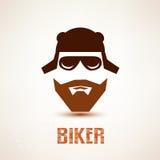 Biker or rocker vector symbol Stock Images