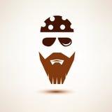 Biker or rocker vector symbol Royalty Free Stock Images