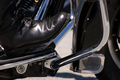 Biker's Boot Stock Photography