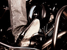 Biker´s leg Royalty Free Stock Images