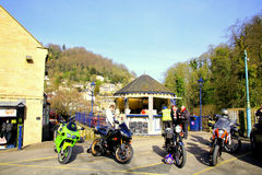Biker's stop, Matlock Bath, Derbyshire, UK. Stock Photography