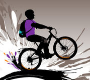 Biker silhouette. Stock Photography